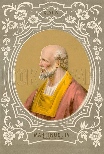 Martinus IV. Illustration in Romani Pontefici by Luigi Tripepi (Roma, 1879).