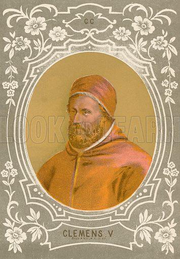 Clemens V. Illustration in Romani Pontefici by Luigi Tripepi (Roma, 1879).