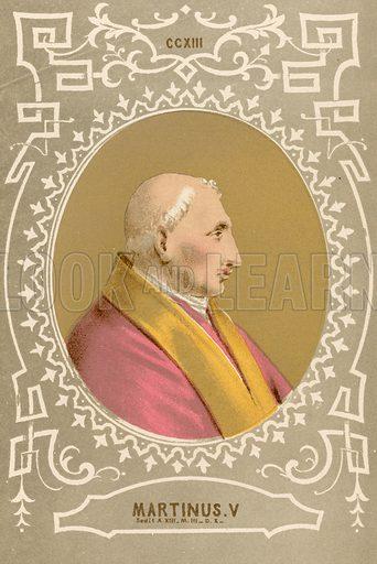 Martinus V. Illustration in Romani Pontefici by Luigi Tripepi (Roma, 1879).