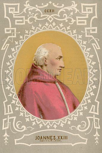 Joannes XXIII. Illustration in Romani Pontefici by Luigi Tripepi (Roma, 1879).