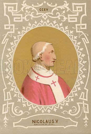 Nicolaus V. Illustration in Romani Pontefici by Luigi Tripepi (Roma, 1879).
