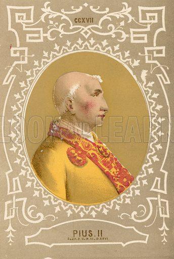 Pius II. Illustration in Romani Pontefici by Luigi Tripepi (Roma, 1879).