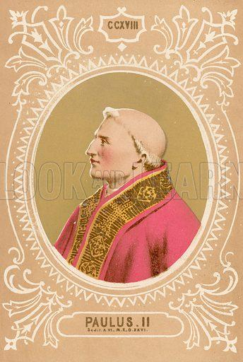 Paulus II. Illustration in Romani Pontefici by Luigi Tripepi (Roma, 1879).