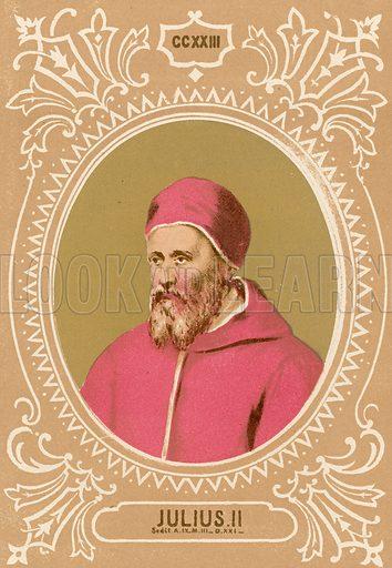 Julius II. Illustration in Romani Pontefici by Luigi Tripepi (Roma, 1879).