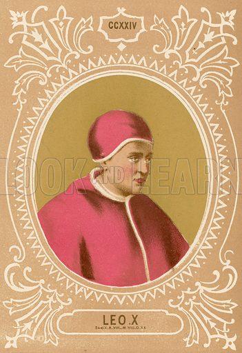 Leo X. Illustration in Romani Pontefici by Luigi Tripepi (Roma, 1879).