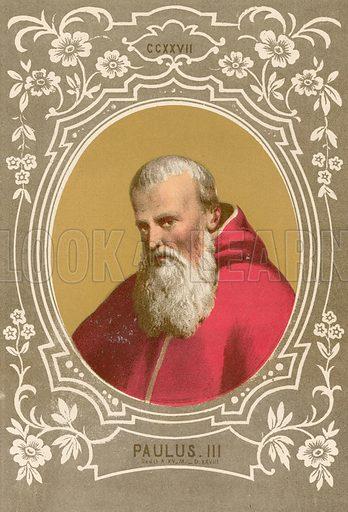 Paulus III. Illustration in Romani Pontefici by Luigi Tripepi (Roma, 1879).