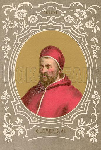 Clemens VII. Illustration in Romani Pontefici by Luigi Tripepi (Roma, 1879).