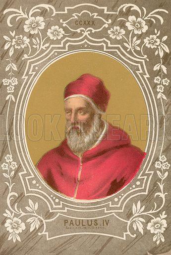 Paulus IV. Illustration in Romani Pontefici by Luigi Tripepi (Roma, 1879).