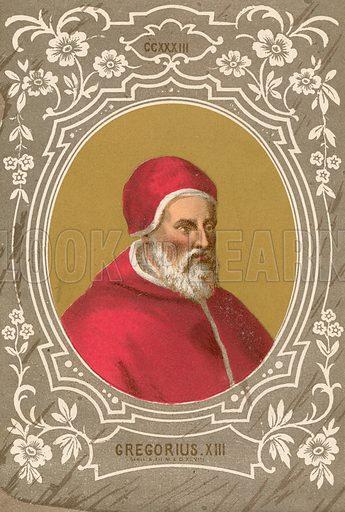 Gregorius XIII. Illustration in Romani Pontefici by Luigi Tripepi (Roma, 1879).