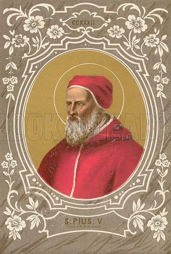 S Pius V. Illustration in Romani Pontefici by Luigi Tripepi (Roma, 1879).