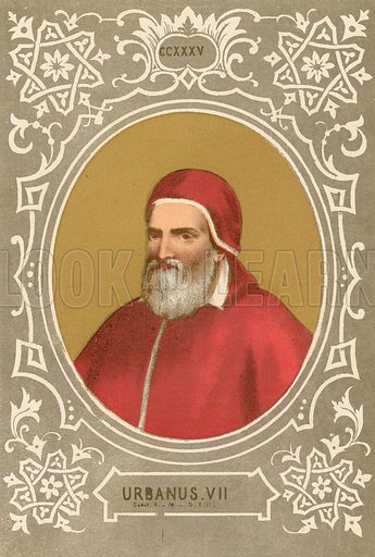 Urbanus VII. Illustration in Romani Pontefici by Luigi Tripepi (Roma, 1879).