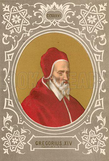 Gregorius XIV. Illustration in Romani Pontefici by Luigi Tripepi (Roma, 1879).