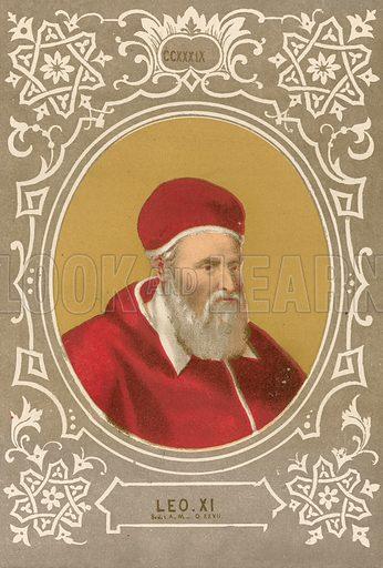 Leo XI. Illustration in Romani Pontefici by Luigi Tripepi (Roma, 1879).