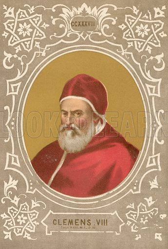 Clemens VIII. Illustration in Romani Pontefici by Luigi Tripepi (Roma, 1879).