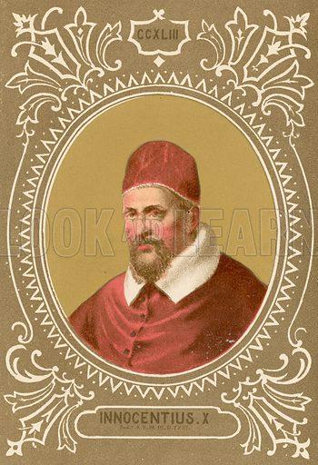 Innocentius X. Illustration in Romani Pontefici by Luigi Tripepi (Roma, 1879).