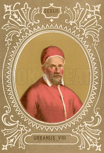 Urbanus VIII. Illustration in Romani Pontefici by Luigi Tripepi (Roma, 1879).
