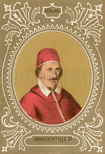Innocentius XI. Illustration in Romani Pontefici by Luigi Tripepi (Roma, 1879).