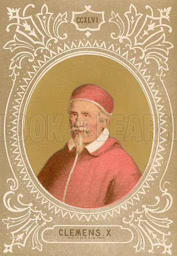Clemens X. Illustration in Romani Pontefici by Luigi Tripepi (Roma, 1879).