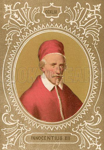 Innocentius XII. Illustration in Romani Pontefici by Luigi Tripepi (Roma, 1879).