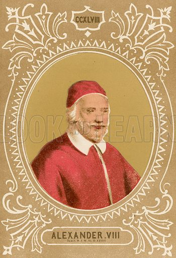 Alexander VIII. Illustration in Romani Pontefici by Luigi Tripepi (Roma, 1879).