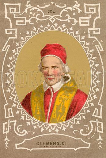 Clemens XI. Illustration in Romani Pontefici by Luigi Tripepi (Roma, 1879).