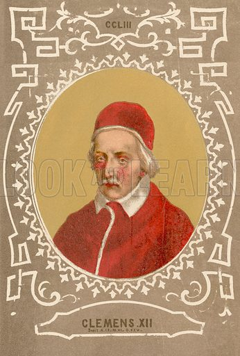 Clemens XII. Illustration in Romani Pontefici by Luigi Tripepi (Roma, 1879).