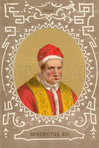 Benedictus XIII. Illustration in Romani Pontefici by Luigi Tripepi (Roma, 1879).