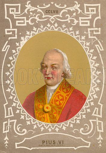 Pius VI. Illustration in Romani Pontefici by Luigi Tripepi (Roma, 1879).