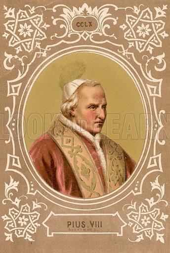 S Pius VIII. Illustration in Romani Pontefici by Luigi Tripepi (Roma, 1879).