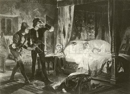 King Richard the Third. Act IV-Scene III. Illustration for The Complete Works of Shakespeare edited by William Cullet Bryant (Carson & Simpson, 1895).