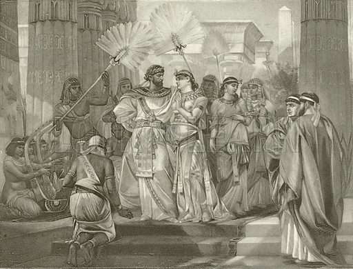 Antony & Cleopatra. Act I, Scene I. Illustration for The Complete Works of Shakespeare edited by William Cullet Bryant (Carson & Simpson, 1895).