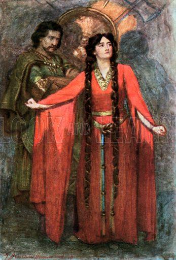 picture, Gertrude Demain Hammond, artist, painter, illustrator, Macbeth, Shakespeare