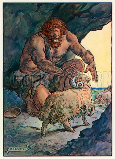 """""""How is this, thou who Art the Leader of the Flock?"""" Illustration for Stories from the Classics (Waverley, c 1910)."""
