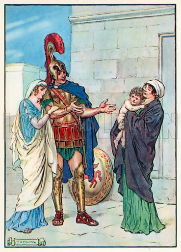 """""""Held out his arms to his Darling Boy"""". Illustration for Stories from the Classics (Waverley, c 1910)."""