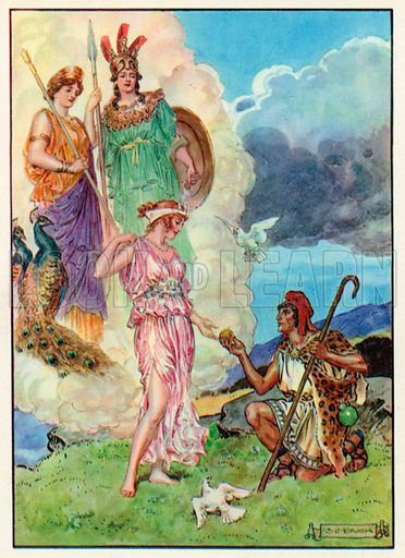 The Apple of Discord. Illustration for Stories from the Classics (Waverley, c 1910).