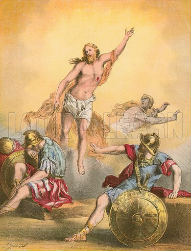The Resurrection. Illustration for The Life of the Lord Jesus (Nelson, 1871).