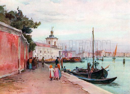 La Dogana, Venice. Illustration for An Artist in Italy (Hodder and Stoughton, c 1910).