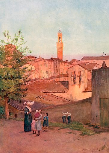 La Capella S Caterina, Siena. Illustration for An Artist in Italy (Hodder and Stoughton, c 1910).