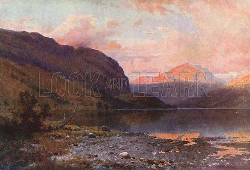 Loch Lubnaig, Perthshire. Illustration for Bonnie Scotland by AR Hope Moncrieff (A&C Black, 1912).