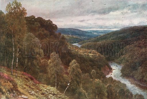 Strath Glass, Inverness-Shire. Illustration for Bonnie Scotland by AR Hope Moncrieff (A&C Black, 1912).