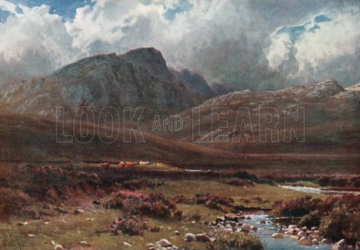 Crags near Poolewe, Ross-Shire. Illustration for Bonnie Scotland by AR Hope Moncrieff (A&C Black, 1912).