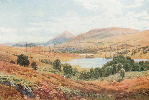 Tomdoun, Glen Garry, Inverness-Shire. Illustration for Bonnie Scotland by AR Hope Moncrieff (A&C Black, 1912).