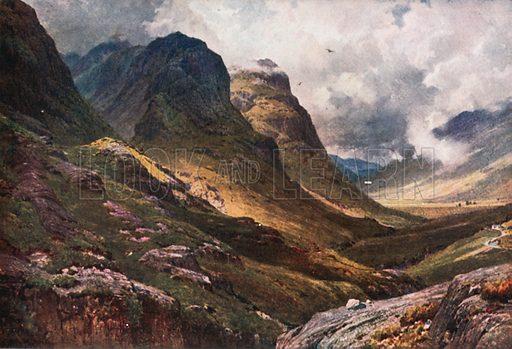 Glencoe, Argyllshire. Illustration for Bonnie Scotland by AR Hope Moncrieff (A&C Black, 1912).