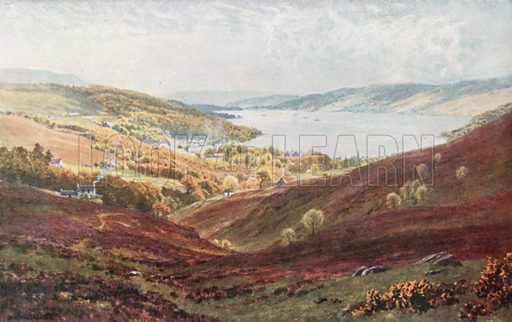 Garelochhead, Dumbarronshire. Illustration for Bonnie Scotland by AR Hope Moncrieff (A&C Black, 1912).