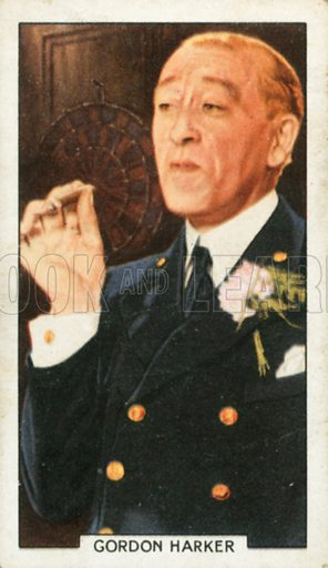 Gordon Harker. Portraits of famous stars. Gallaher cigarette card early 20th century.