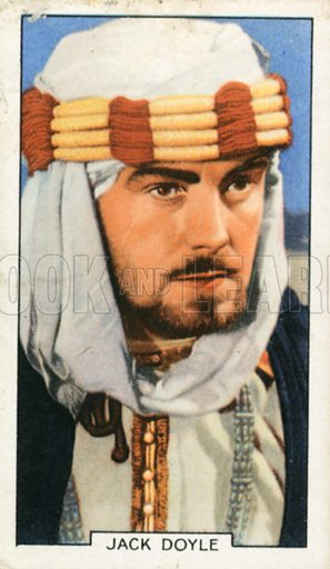 Jack Doyle. Portraits of famous stars. Gallaher cigarette card early 20th century.