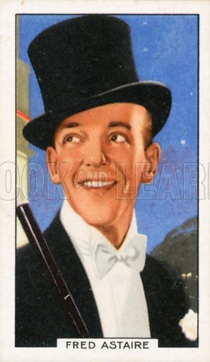 Fred Astaire. Portraits of famous stars. Gallaher cigarette card early 20th century.