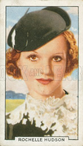 Rochelle Hudson. Portraits of famous stars. Gallaher cigarette card early 20th century.