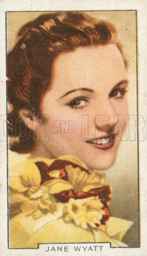 Jane Wyatt. Portraits of famous stars. Gallaher cigarette card early 20th century.