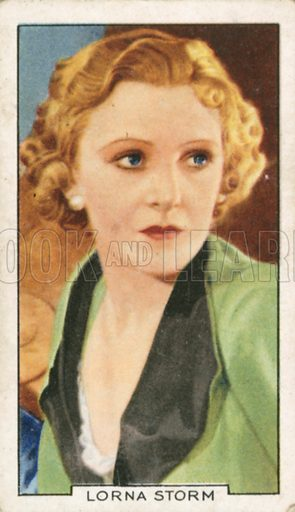 Lorna Storm. Portraits of famous stars. Gallaher cigarette card early 20th century.